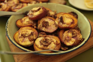 baked stuffed peaches apricots